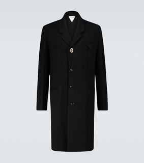 Bottega Veneta - Einreihiger Mantel aus Wolle