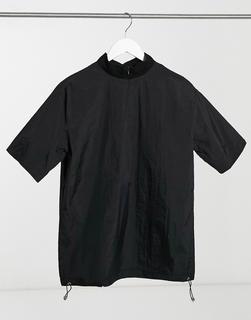 Sixth June - T-Shirt mit hohem Kragen in Schwarz