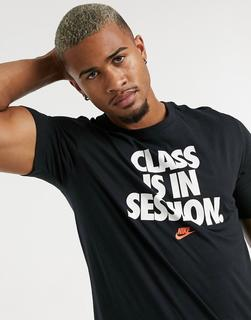 """Nike - Schwarzes """"Class Is In Session"""" T-Shirt"""
