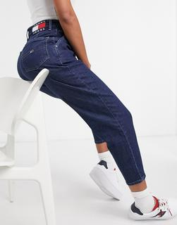 Tommy Jeans - Mom-Jeans in dunkler Waschung-Navy