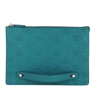 MCM - Aktentasche - Medium Tivitat Document Holder Leather Deep Lagoon - in teal-cyan - für Damen