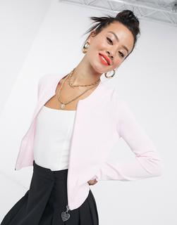 Love Moschino - Rosa Strickjacke mit Reißverschluss vorne