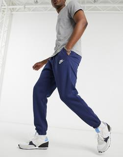 Nike - Club – Legere Jogginghose mit engen Bündchen in Marineblau-Navy