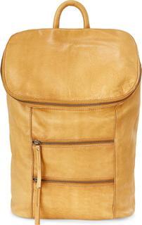 COX - Leder-Rucksack in mittelbraun, Rucksäcke für Damen