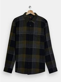 Lee - Mens Lee Green Check Utility Shirt, Green