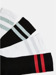 Topman - Mens Multi Stripe 4 Pack Socks*, Multi