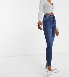 Tommy Jeans - Enge Jeans mit hohem Bund und mittelblauer Waschung