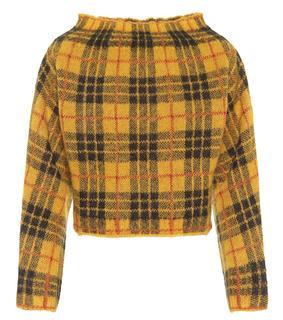 Monse - Karierter Pullover mit Alpakaanteil