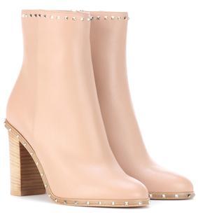 Valentino Garavani - Ankle Boots Rockstud aus Leder