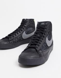 Nike - Blazer Mid '77 Vintage SE – Halloween-Sneaker in Schwarz mit Design, das im Dunkeln leuchtet