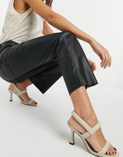 Vero Moda - Schwarze Hose in Leder-Optik