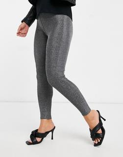 Vila - Leggings in Silber