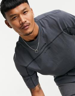 adidas Originals - RYV – Graues T-Shirt mit mittigem Logo