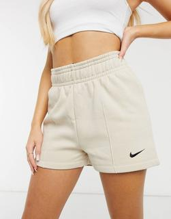 Nike - Fleece-Shorts in Beige