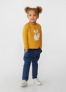 MANGO BABY - Besticktes baumwoll-sweatshirt