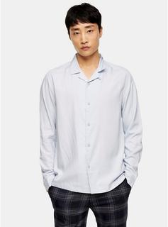 Topman - Mens Blue Slim Shirt, Blue