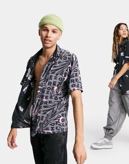 ASOS DESIGN - CIRCULAR – Wendbares Unisex-Hemd mit mehrfarbigem Muster
