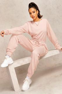 boohoo - Womens Mix & Match Edition Sweat-Jogginghosen-Jumpsuit - Steingrau - 40, Steingrau