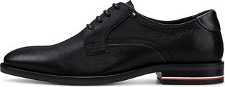 TOMMY HILFIGER - Derby-Schnürer Signature in schwarz, Business-Schuhe für Herren