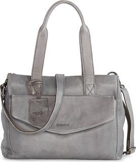 Burkely - Handtasche Just Jackie M in dunkelgrau, Schultertaschen für Damen