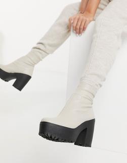 Topshop - Stiefel in gebrochenem Weiß