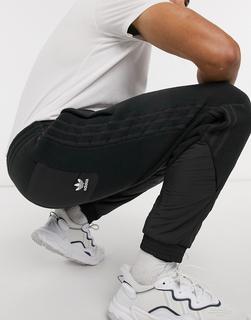 adidas Originals - Schwarze Fleece-Jogginghose