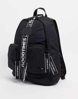 GoodTimes - El Born – Schwarzer Rucksack aus recyceltem Material mit Sicherheitsverschluss