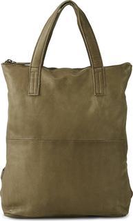 COX - Shopper-Rucksack in mittelgrün, Rucksäcke für Damen