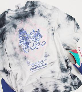 Collusion - Unisex – Oversize-T-Shirt mit Print und Acid-Waschung-Mehrfarbig
