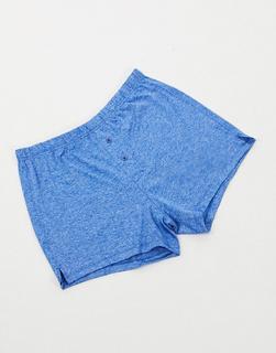 ASOS DESIGN - Boxershorts aus Mikrofaser in hellem Blaugrau