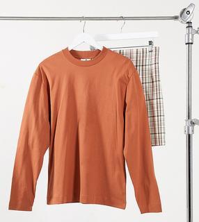 Collusion - Langärmliges Unisex-Shirt in Braun