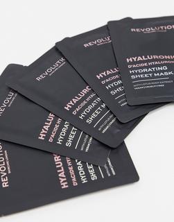 Revolution - Skincare – Biologisch abbaubare, feuchtigkeitsspendende Tuchmasken mit Hyaluronsäure im 5er-Set-Keine Farbe