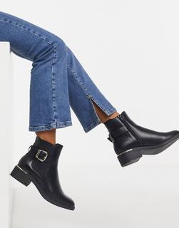 Schuh - Caitlin - Ankle-Boots in Schwarz mit Schnalle