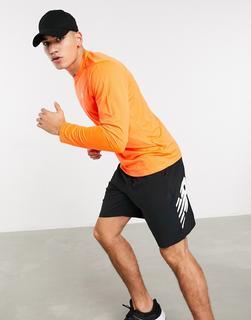new balance - Running Accelerate – Langärmliges Oberteil mit Logo in Orange