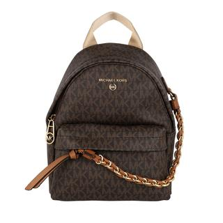 MICHAEL KORS - Rucksack - Slater Small Canvas Messenger Backpack Brown/Acorn - in braun - für Damen