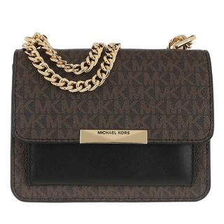 MICHAEL KORS - Umhängetasche - Jade Small Gusset Crossbody Bag Brown/Black - in braun - für Damen