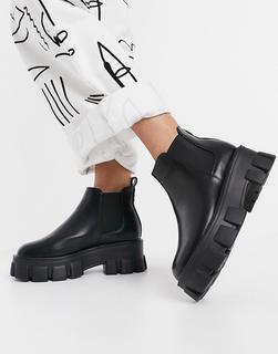 Schuh - Anna – Chelsea-Stiefel mit robuster Sohle in Schwarz