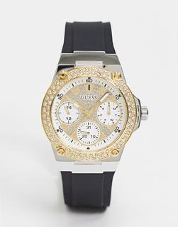guess - Chronograf mit schwarzem Armband