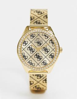 guess - Armbanduhr mit durchgehendem Markenlogo-Gold