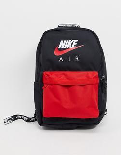 Nike - Air – Heritage-Rucksack in Schwarz/Rot
