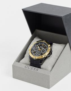 guess - Chronograph mit Golddetail