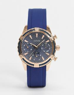 guess - Chronograf mit blauem Armband