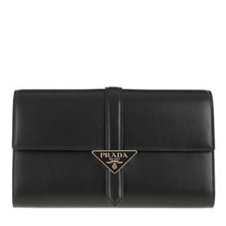 Prada - Clutch - Pouch Wallet Leather Black - in schwarz - für Damen