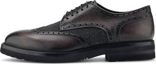 Franceschetti - Derby-Schnürer in dunkelgrau, Business-Schuhe für Herren