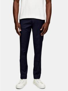 Topman - Mens Navy Slim Smart Trousers, Navy