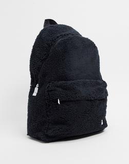 Fila - Yootah – Rucksack aus Kunstpelz in Schwarz