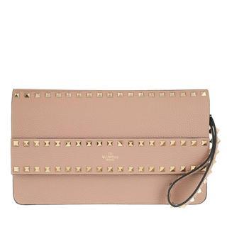Valentino - Clutch - Rockstud Clutch Leather Poudre - in rosa - für Damen