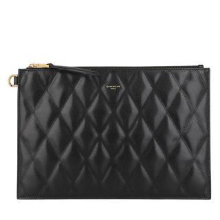 Givenchy - Clutch - Quilted Pouch Leather Black - in schwarz - für Damen