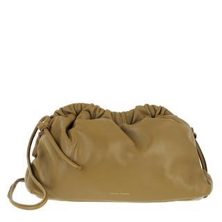 Mansur Gavriel - Umhängetasche - Mini Cloud Clutch Leather Safari - in grün - für Damen