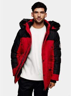 Martique - Mens Martique Red Parka Jacket, RED
